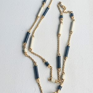 Kate Spade black and white station necklace 32in